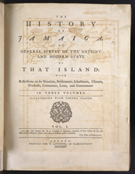 The History of Jamaica -Title Page